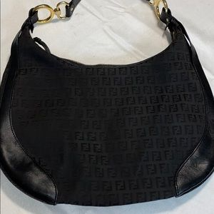 Fendi Bags - Authentic Large Fendi logo shoulder bag
